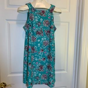 Aryeh Teal  black/pink/white floral Dress Size L